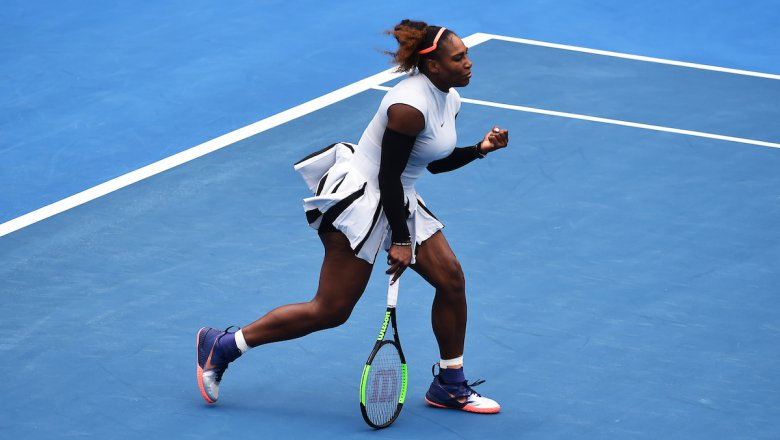 Serena Williams Debuts and Prepares for Round Two