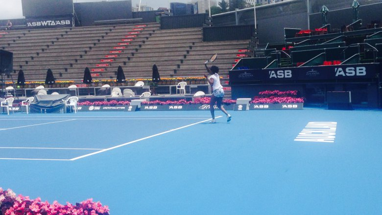 Some big tennis names practising at ASB Arena